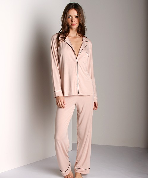 Eberjey Gisele PJ Set Blush Black PJ1018 - Free Shipping at Largo Drive 2c66f87ab