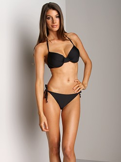 Splendid Bayside Tie Side Bikini Bottom Black