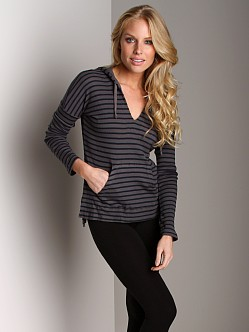 Splendid Thermal Hoodie Top River Rock