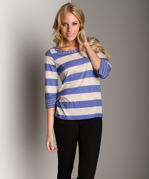 Splendid Boatneck Oatmeal Mix Top Wave