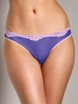 Only Hearts Tulle Low Rise Lace Thong Electric Blue