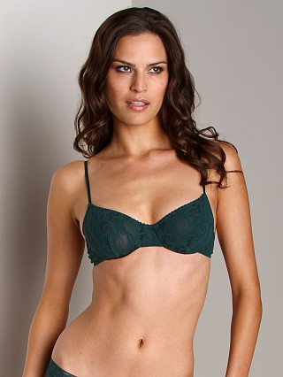 Only Hearts Stretch Lace Underwire Bra Forest Green