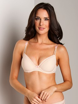 Betsey Johnson Zipper Stripe Underwire Bra Sugar Cookie