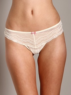 Betsey Johnson Eyelet Lace Low Rise Thong Suzy Snow