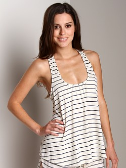 Eberjey Coastal Stripes Racerback Tank Navy