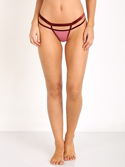 SKIVVIES by For Love & Lemons Iris Double Strap Thong Orchid