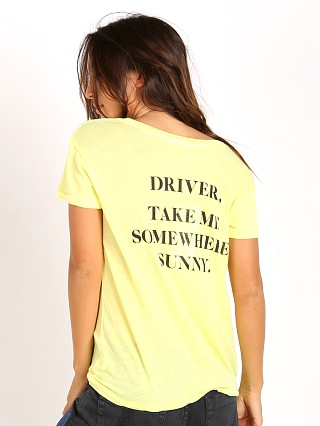 WILDFOX Take Me Somewhere Easy Tee Neon Sign Yellow