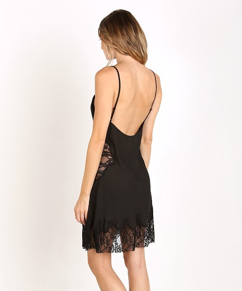 Lovers + Friends Paris Romance Mini Slip Black