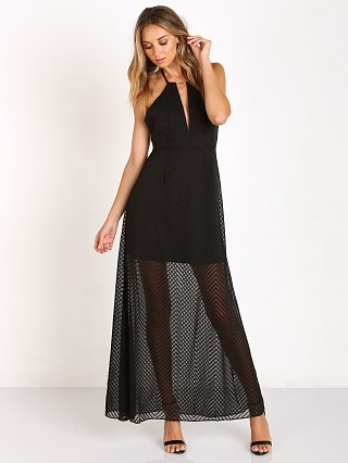 Lovers + Friends Goodbye Kiss Maxi Black Chevron