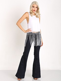 Show Me Your Mumu Flirty Fringe Top White Crisp