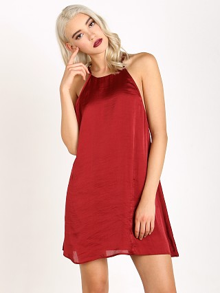 Show Me Your Mumu Martini Dress Ruby Silky Satin