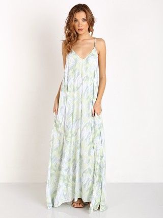Indah Rain Side Slit Maxi Dress Aqua Ipex