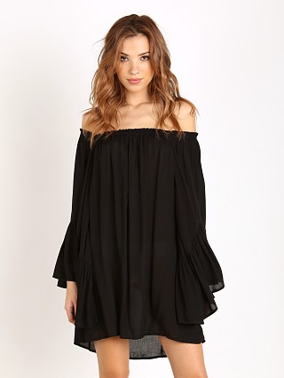 Indah Kamani Angel Wing Tunic Black