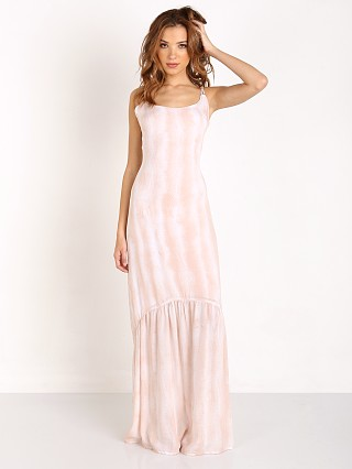 Indah Zera Lace Up Back Maxi Dress Blush Snake
