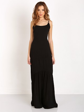 Indah Zera Lace Up Back Maxi Dress Black