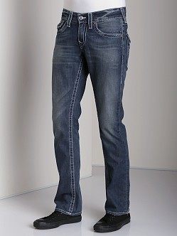 True Religion Ricky Straight Jeans Surfer Dark