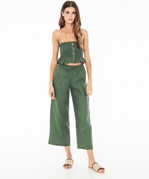 Faithfull the Brand Sloane Top Plain Moss Green