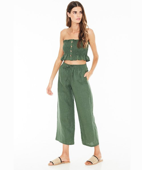 Faithfull the Brand Clemence Pants Plain Moss Green