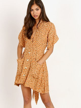 Faithfull the Brand Umbria Dress Vintage Bloom Peach