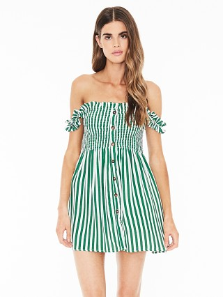Faithfull the Brand Mika Dress Zeus Stripe Print