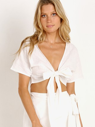 Sage the Label Devon Tie Front Top White