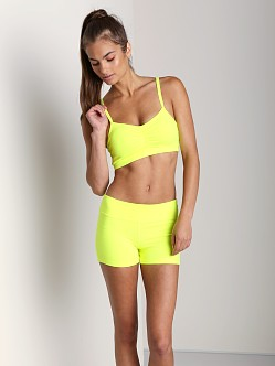 Beyond Yoga Multi Cross Sports Bra Neon Yellow