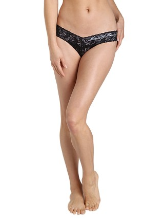 Hanky Panky Maid of Honor Low Rise Thong Black