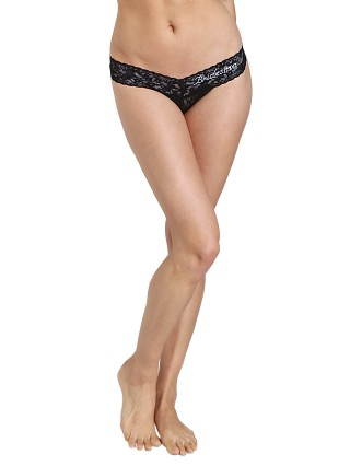 Hanky Panky Braidmaid Low Rise Thong Black