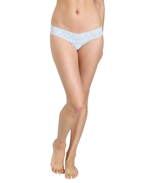32f413127 Hanky Panky Bride Low Rise Thong Powder Blue 491041 - Free Shipping at  Largo Drive