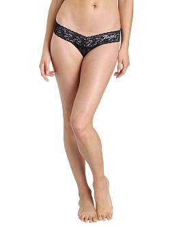 Hanky Panky Bride Low Rise Thong Black