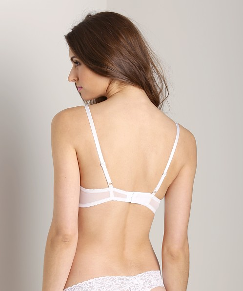 Hanky Panky Embroidered Mesh Underwire Bra Neon-White