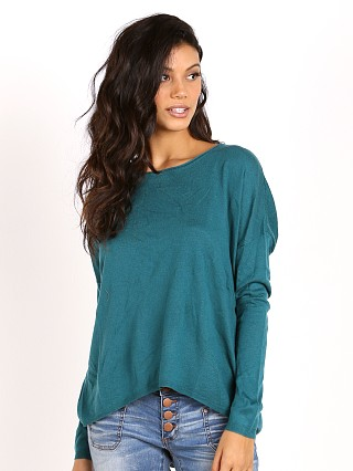 Splendid Cashmere Blend Sweater Pine Green