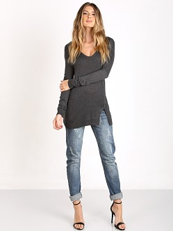 Splendid Cashmere Blend Tunic Heather Charcoal