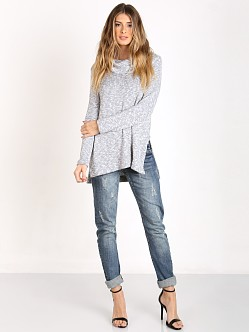 Splendid Lake Front Turtle Neck Sweater Dove Grey