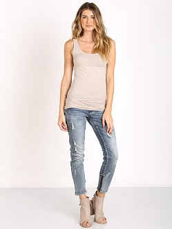 Splendid Long Layers Tank Almond