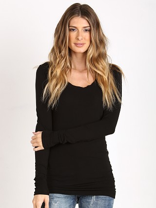Splendid Long Sleeve Layers Shirt Black