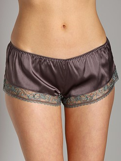 La Fee Verte French Lace Short Charcoal/Mint