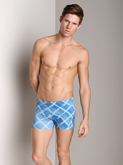 Speedo Diamond Illusion Square Leg New Navy