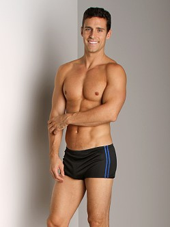 Speedo Poly Mesh Square Leg Black/Blue