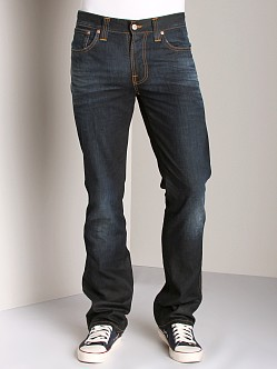 Nudie Jeans Slim Jim Faded Coated Indigo