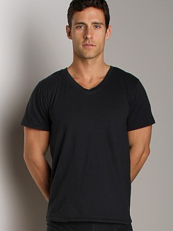 Nudie Jeans Organic Cotton V-Neck Shirt Indigo