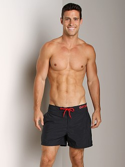 Emporio Armani Piping & Logo Techno Swim Shorts Marine