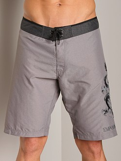 Emporio Armani Dragon Soft Techno Board Shorts Pearl