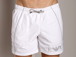 Emporio Armani Seven Stripes Techno Swim Shorts White