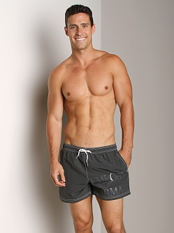 Emporio Armani Logo Techno Swim Shorts Asphalt Grey