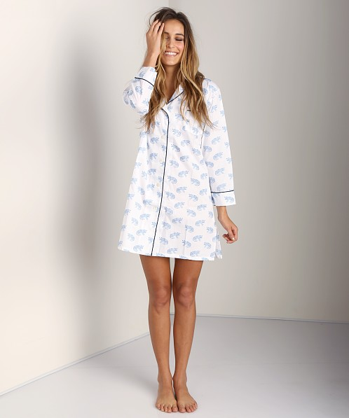 Marigot Leopard Nightshirt Powder Blue