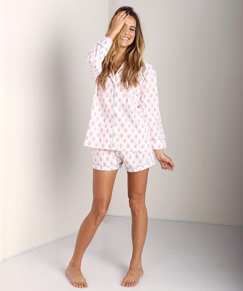 Marigot Flame Coral Short Pajama Set Turquoise LBSPS - Free Shipping at  Largo Drive d4db429d9