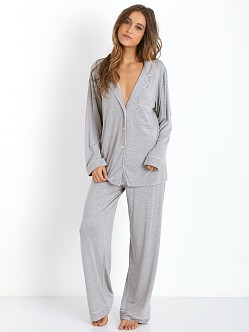 Eberjey Gisele PJ Set Light Heather Grey
