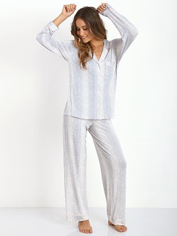 Eberjey Sleep Chic PJ Set Graphite Skin