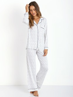 Eberjey Sleep Chic PJ Set Ivory/Navy Stars